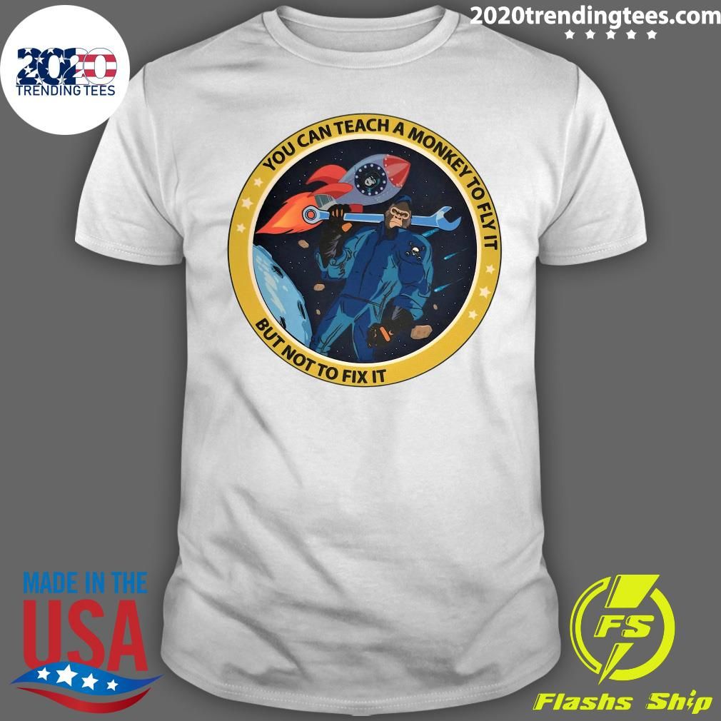 Bigfoot You Can Teach A Monkey To Fly It But Not To Fix It Shirt