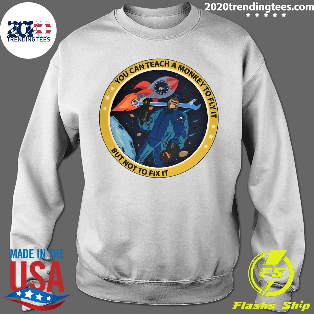 Bigfoot You Can Teach A Monkey To Fly It But Not To Fix It Shirt Sweater