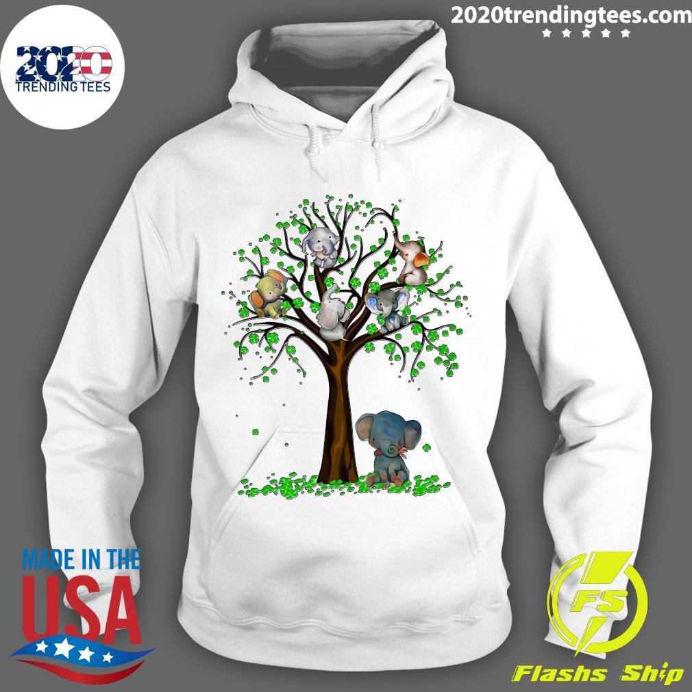 Elephant And Tree Shirt Hoodie