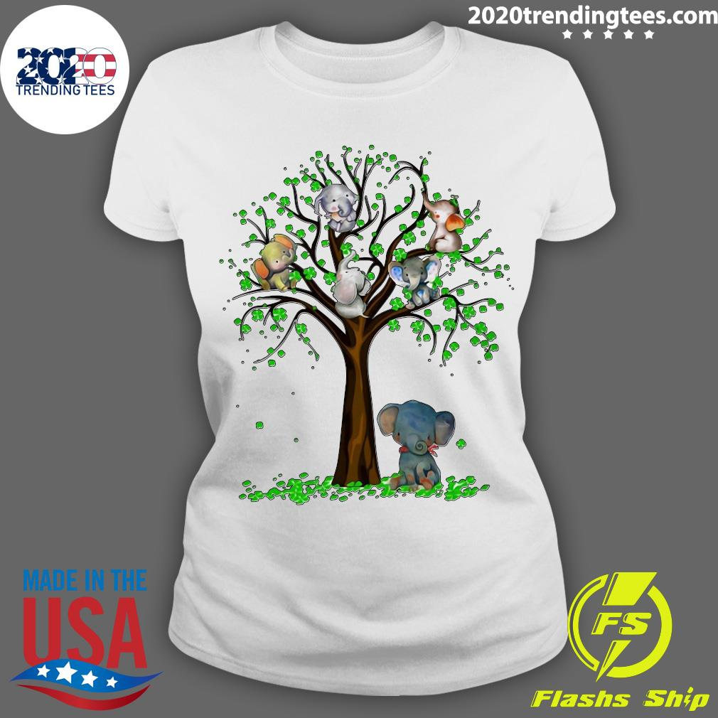 Elephant And Tree Shirt Ladies tee