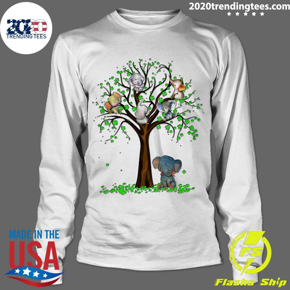 Elephant And Tree Shirt Longsleeve