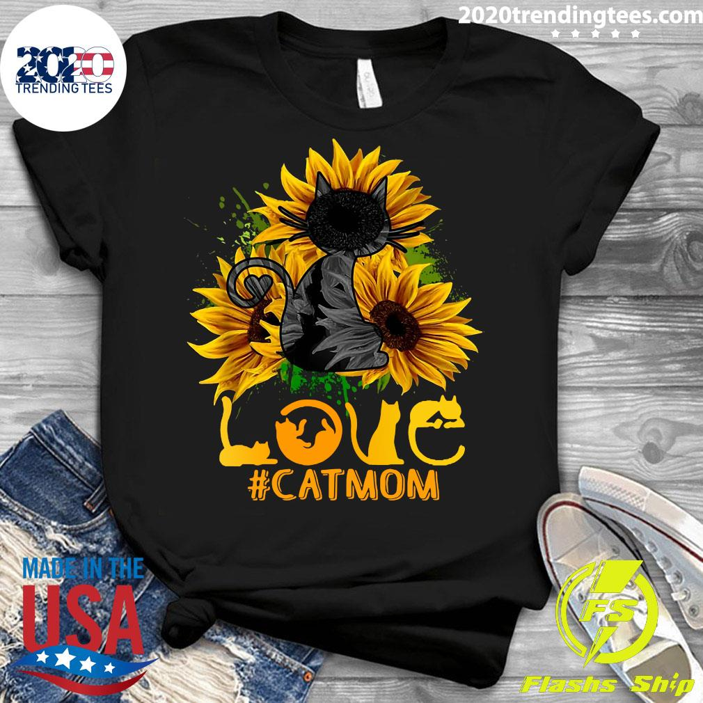 Flower Love Black Cat Mom Classic Shirt Ladies tee