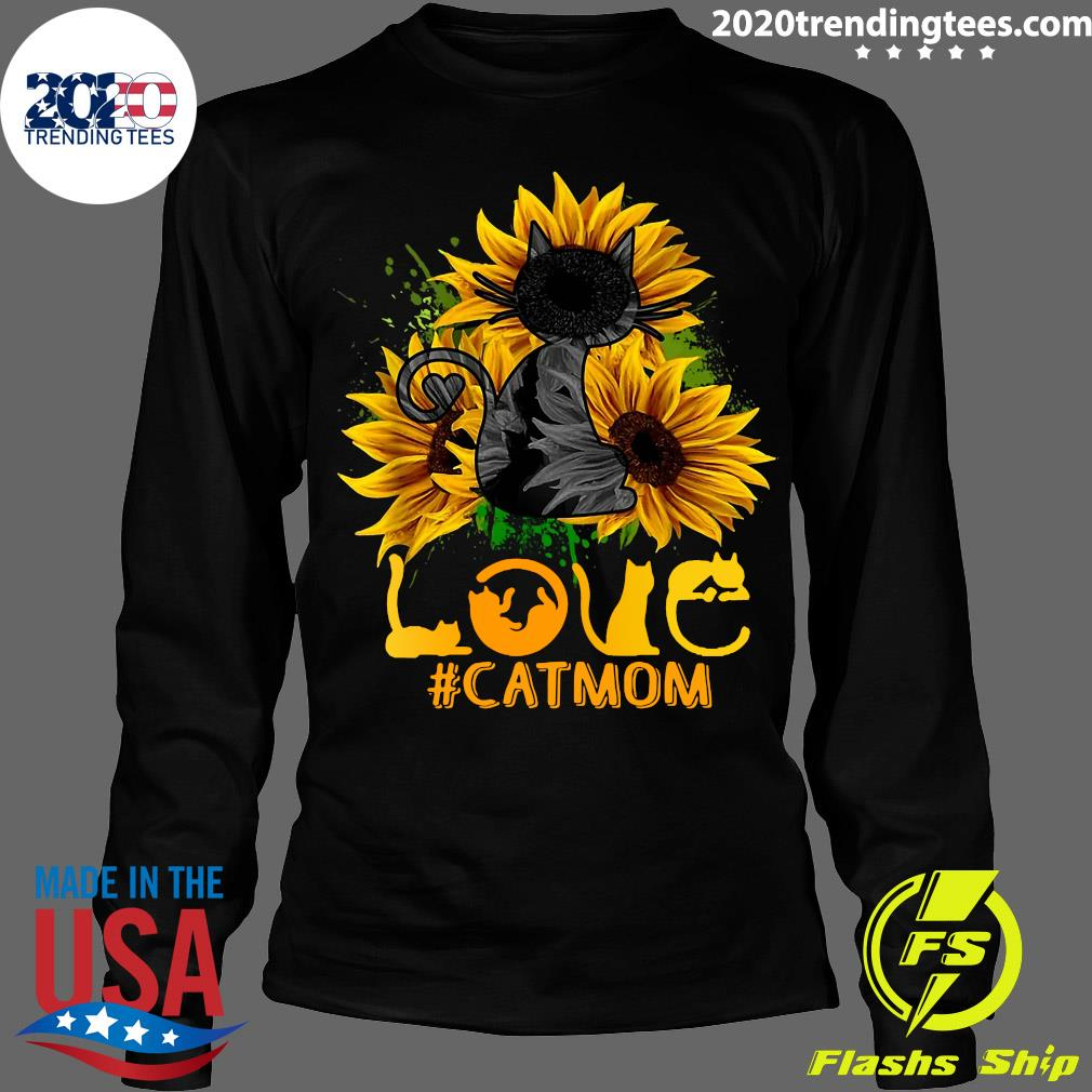 Flower Love Black Cat Mom Classic Shirt Longsleeve