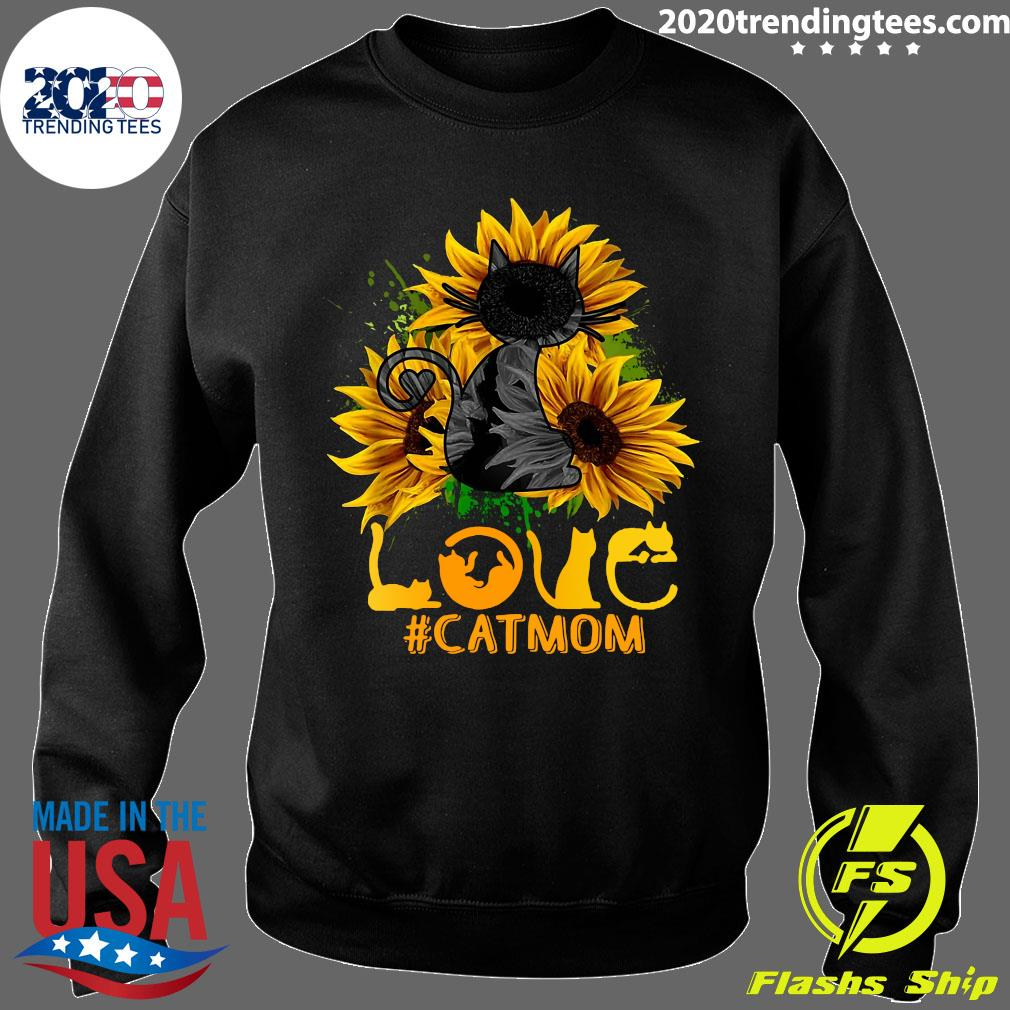 Flower Love Black Cat Mom Classic Shirt Sweater