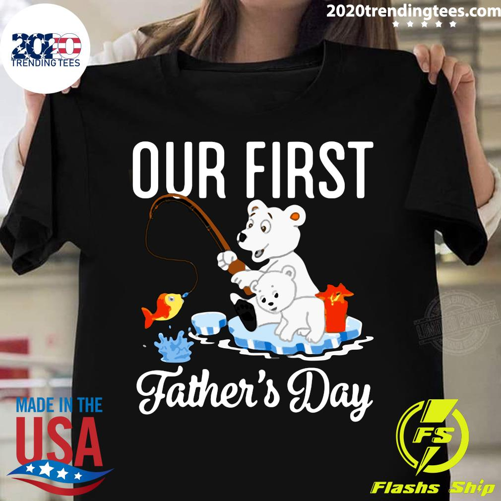 Happy First Father's Day Our First Daddy And Olivia Shirt