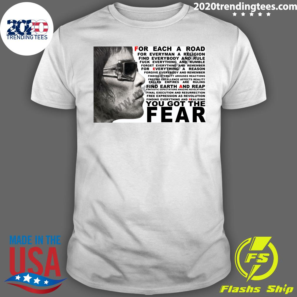 Ian Brown For Each A Road You Got The Fear Shirt