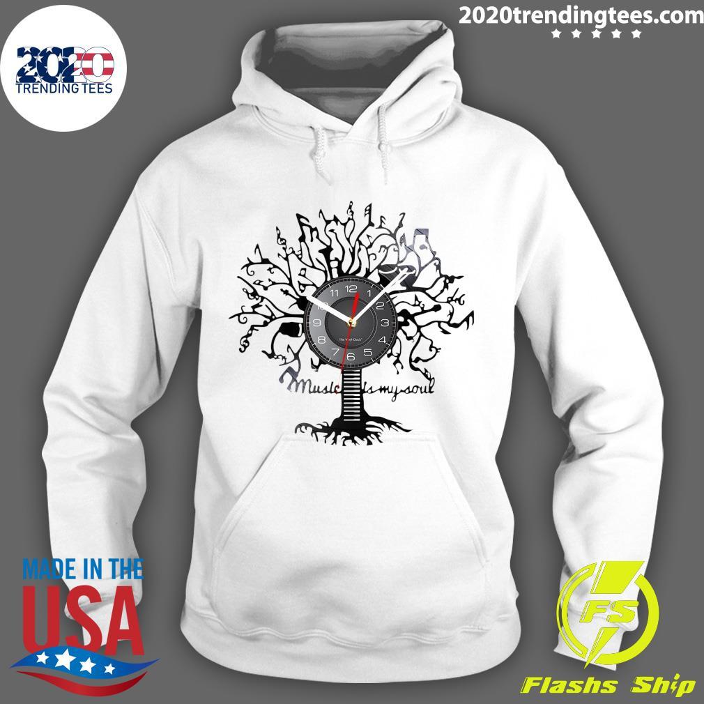 Music Is My Soul Tree Wall Clock Shirt Hoodie