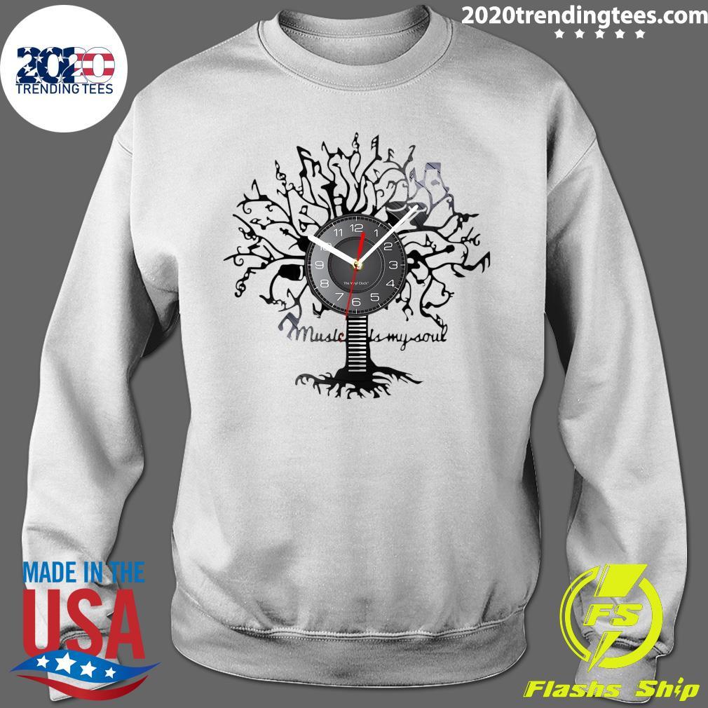 Music Is My Soul Tree Wall Clock Shirt Sweater
