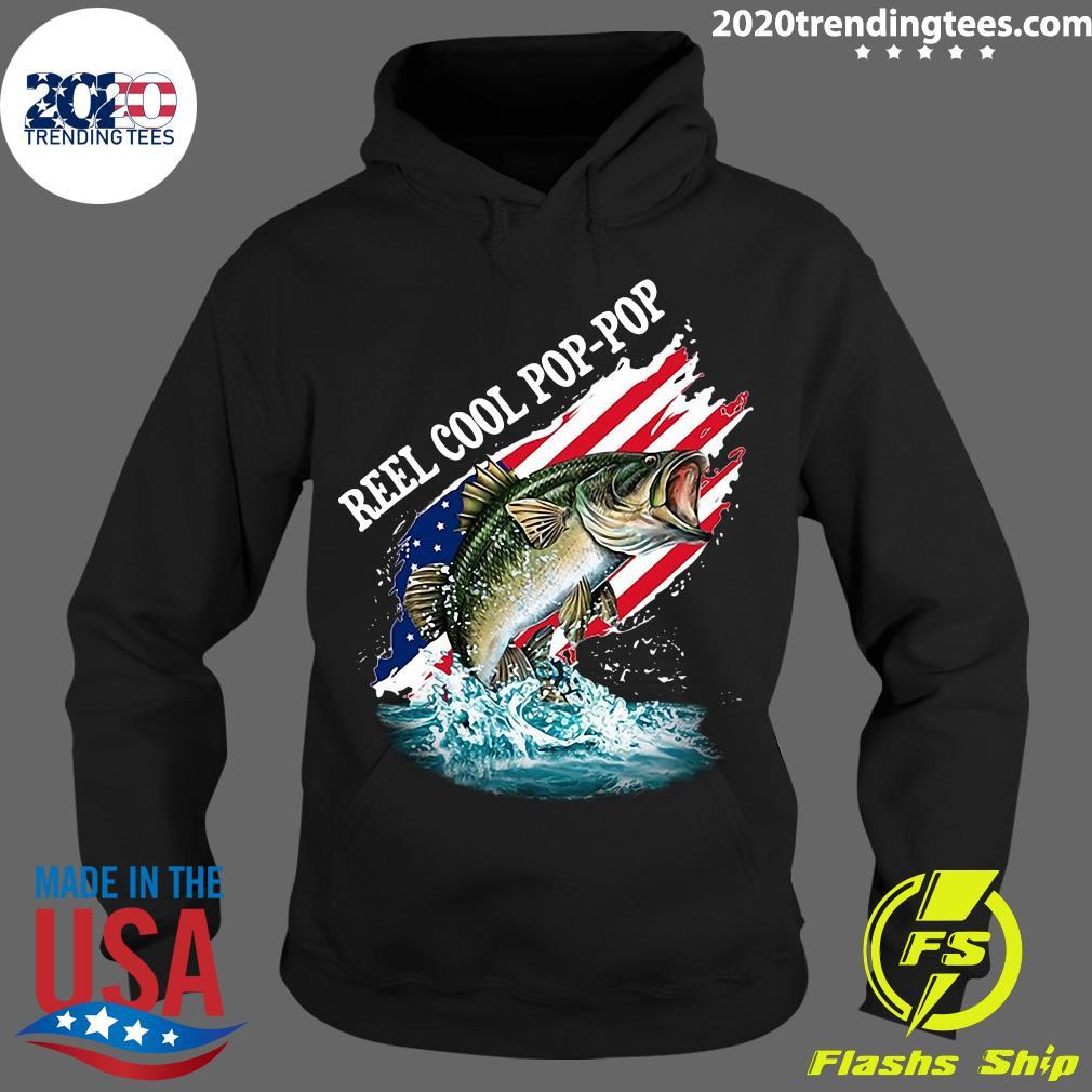 Reel Cool Pop-Pop American Flag Fishing Shirt Hoodie