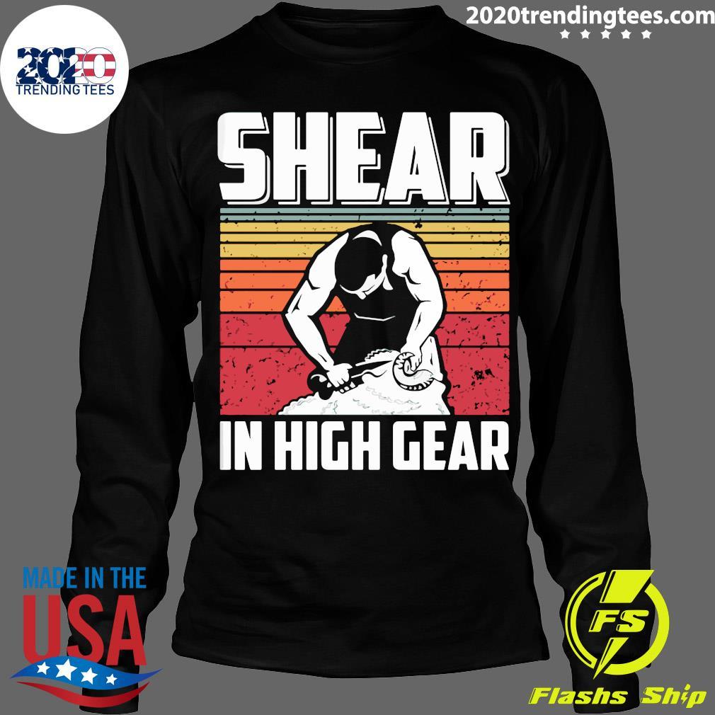 Shear In High Gear Vintage Retro Shirt Longsleeve