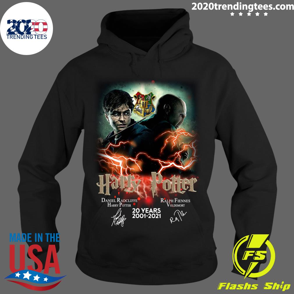 Confrontation Harry Potter Vs Voldemort 20 Years 2001 - 2021 Signatures Shirt Hoodie