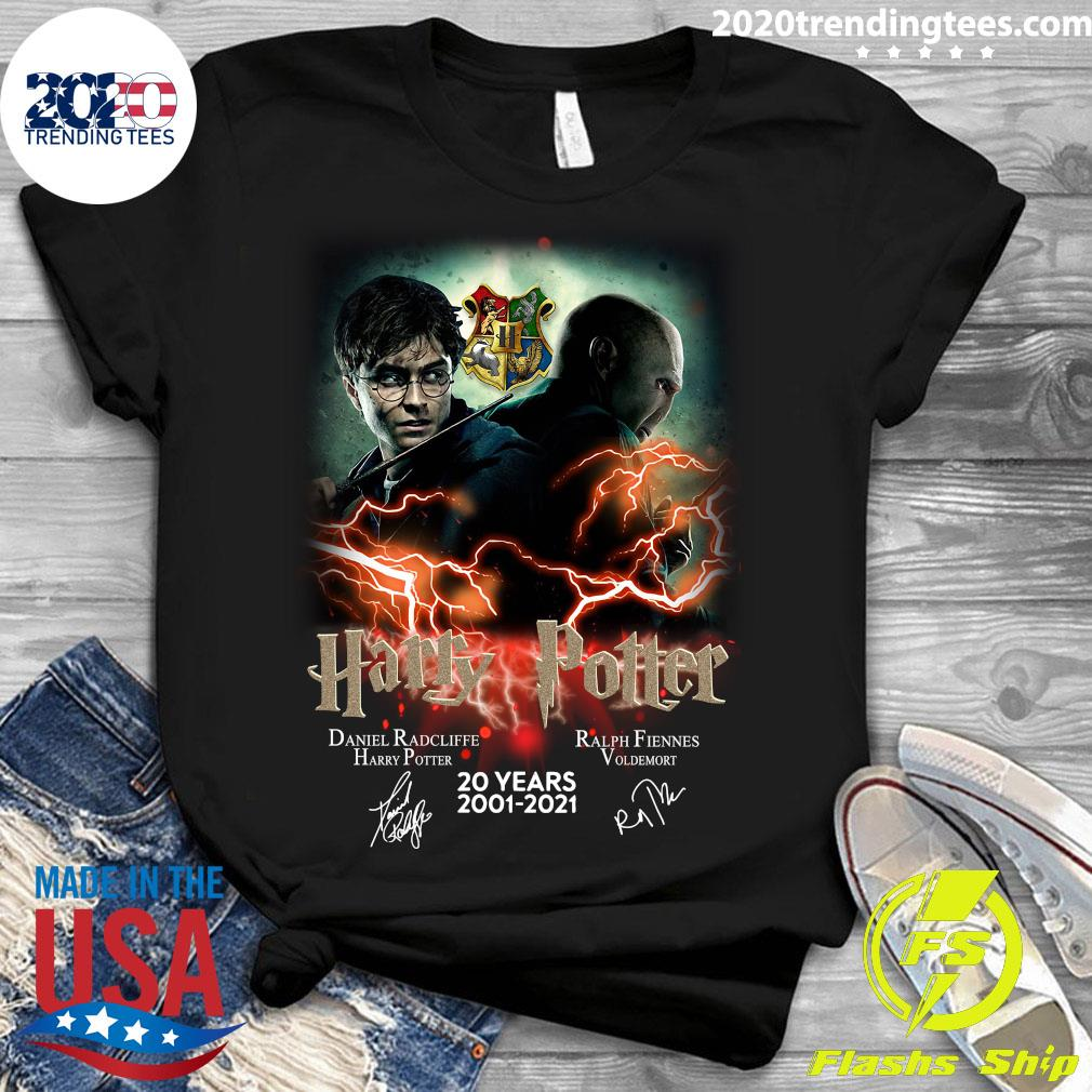 Confrontation Harry Potter Vs Voldemort 20 Years 2001 - 2021 Signatures Shirt Ladies tee