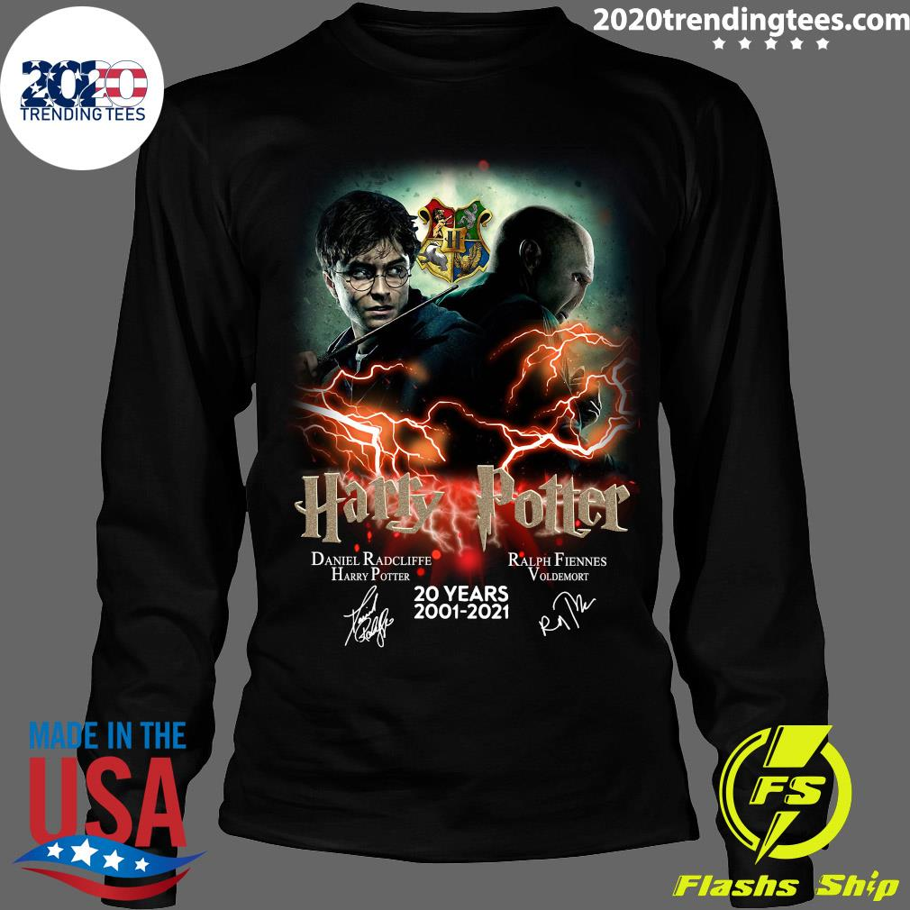 Confrontation Harry Potter Vs Voldemort 20 Years 2001 - 2021 Signatures Shirt Longsleeve