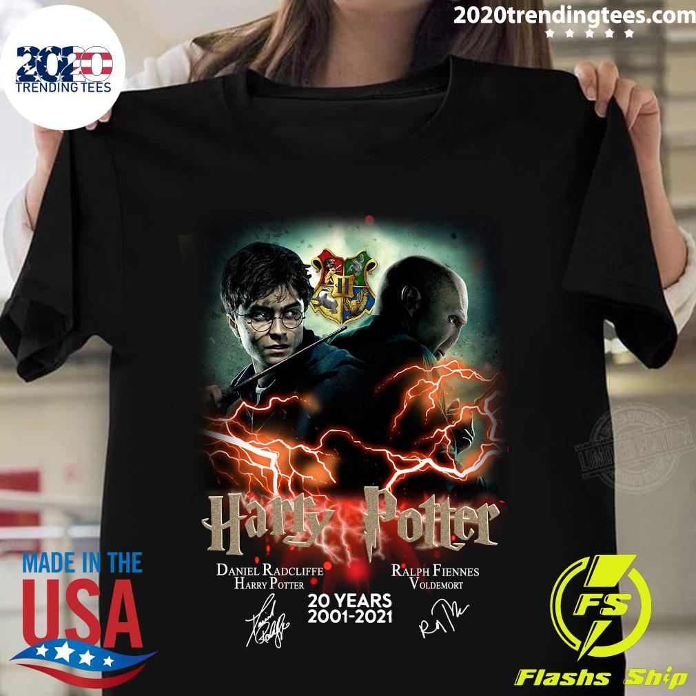 Confrontation Harry Potter Vs Voldemort 20 Years 2001 - 2021 Signatures Shirt