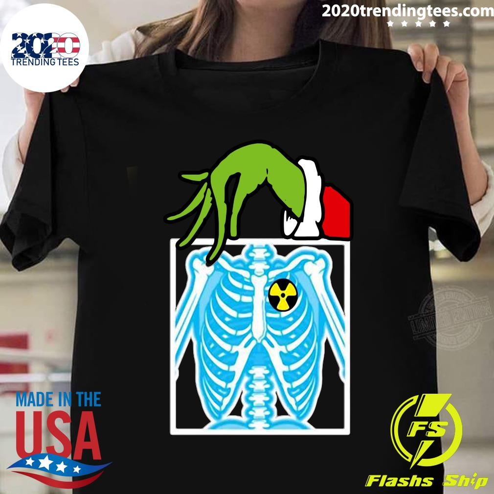 Grinch Holding Radiology X-ray Ugly Christmas Shirt