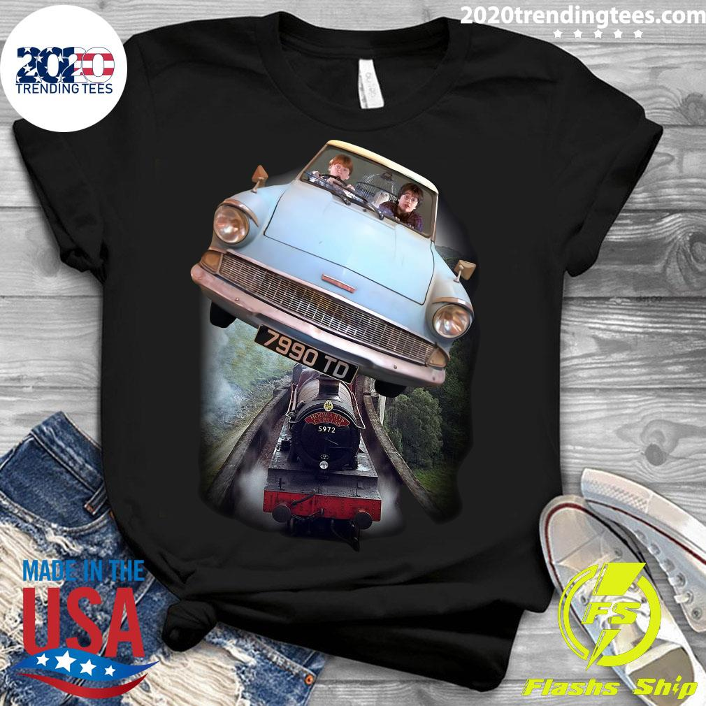 Harry Potter and Ron Car Flying 7990 TD Shirt Ladies tee