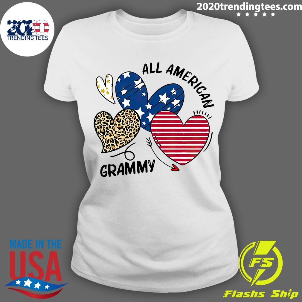 Heart All American Grammy Shirt Ladies tee