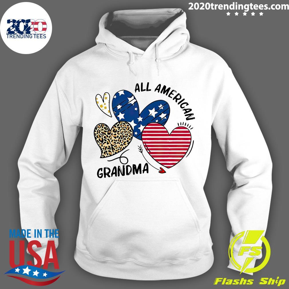 Heart All American Grandma Shirt Hoodie