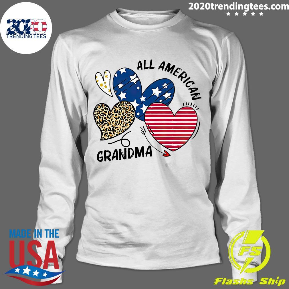 Heart All American Grandma Shirt Longsleeve