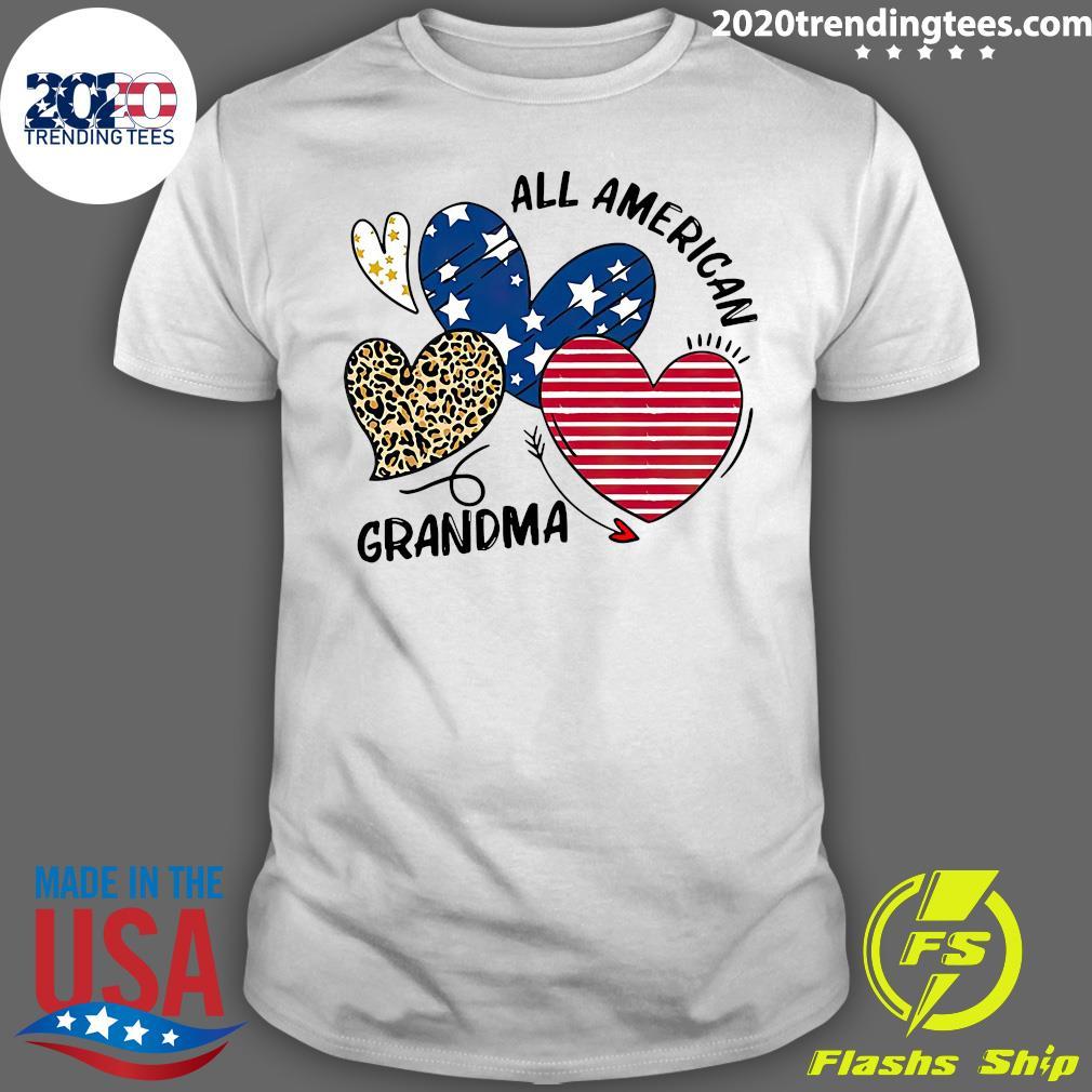 Heart All American Grandma Shirt