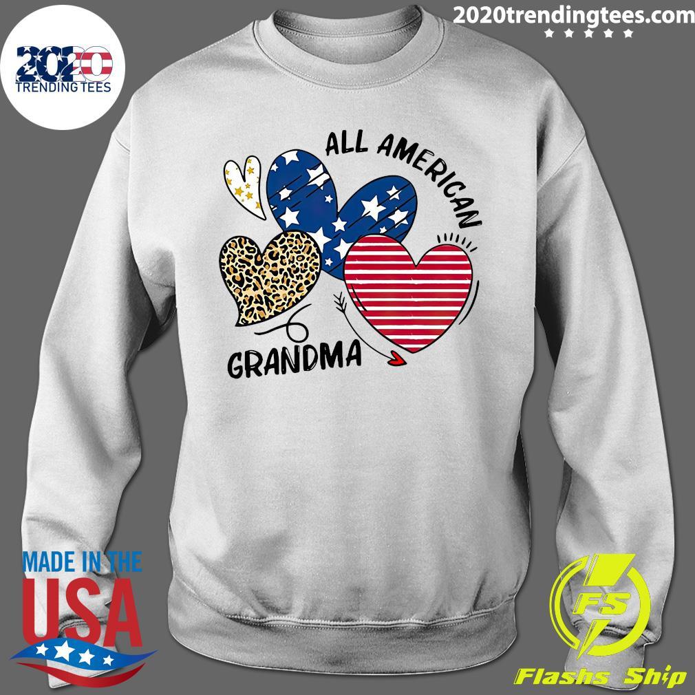 Heart All American Grandma Shirt Sweater