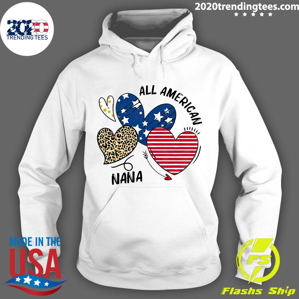 Heart All American Nana Shirt Hoodie