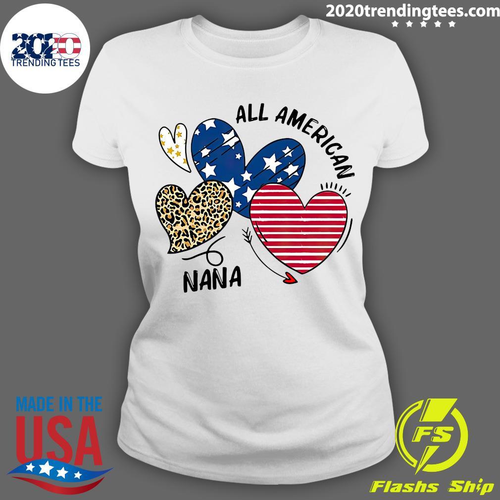 Heart All American Nana Shirt Ladies tee