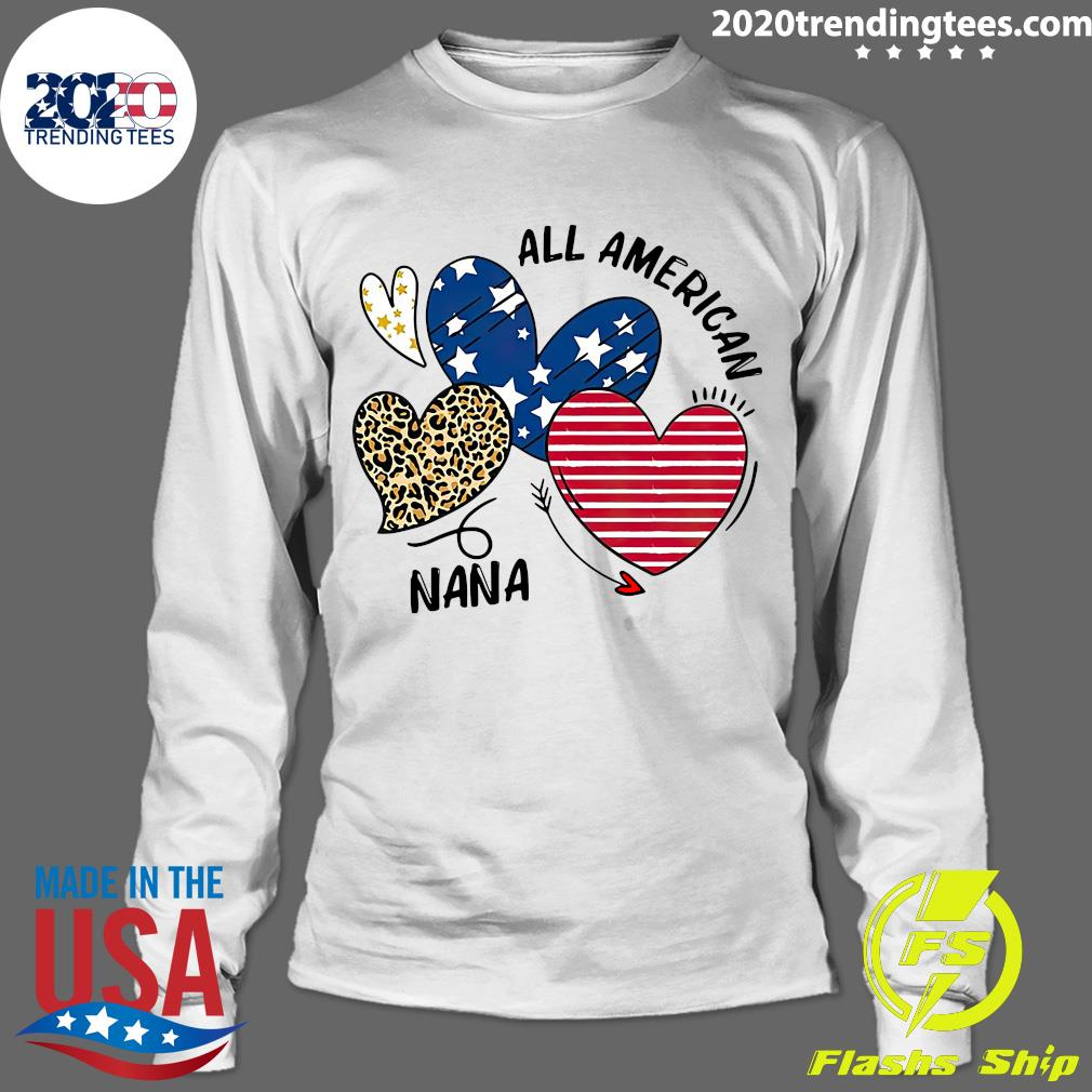 Heart All American Nana Shirt Longsleeve