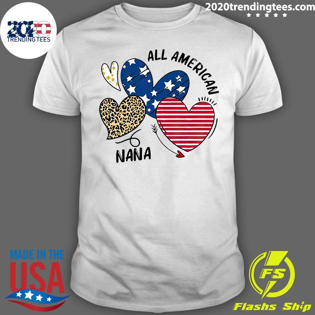 Heart All American Nana Shirt