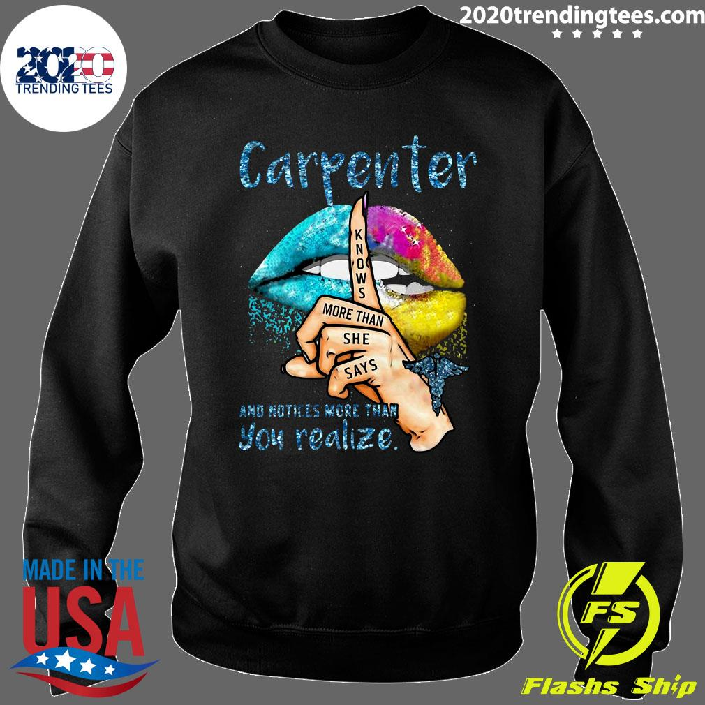 Lips Carpenter And Notices More Than You Realize Shirt Sweater