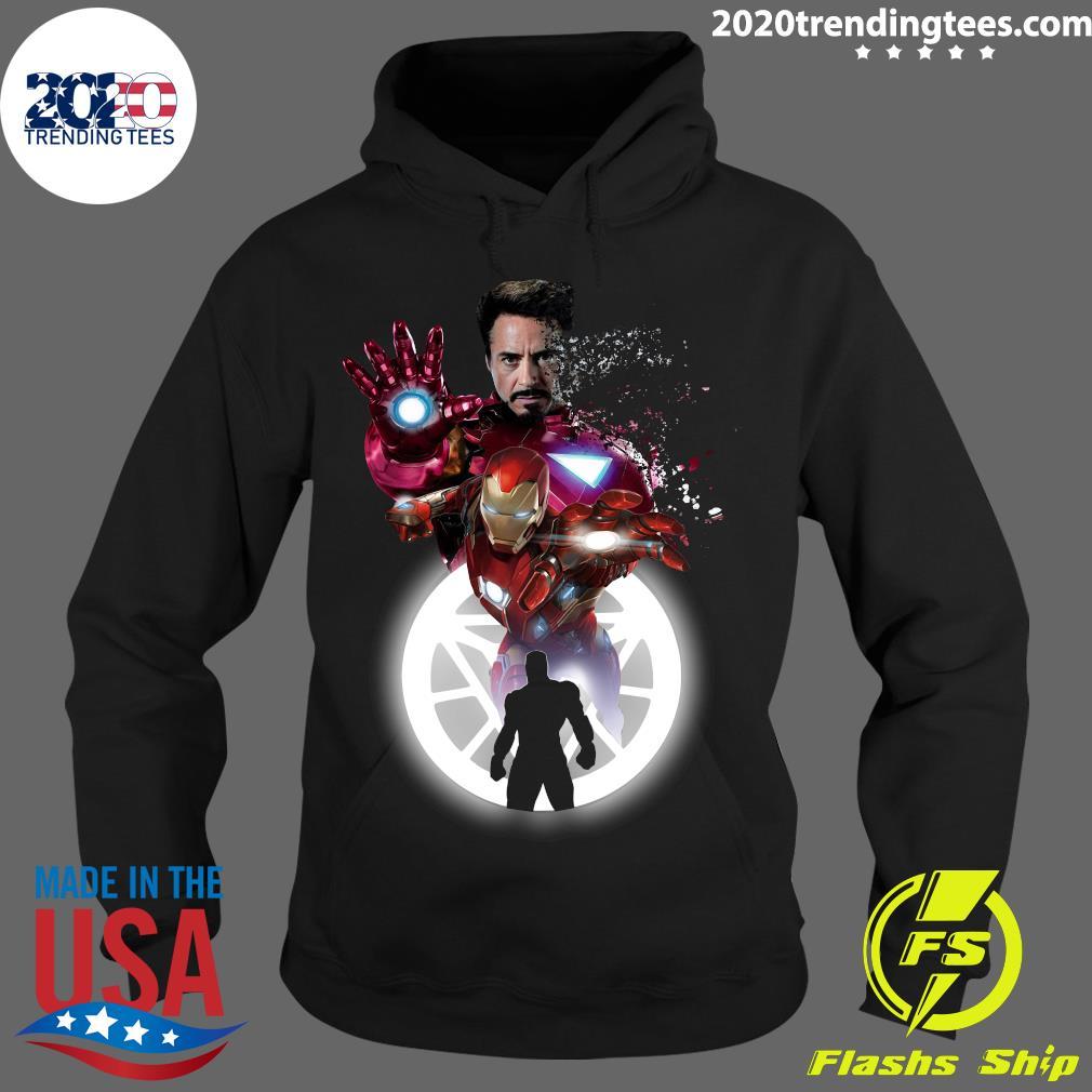 Marvel Iron Man Tony Stark Circle Light Shirt Hoodie