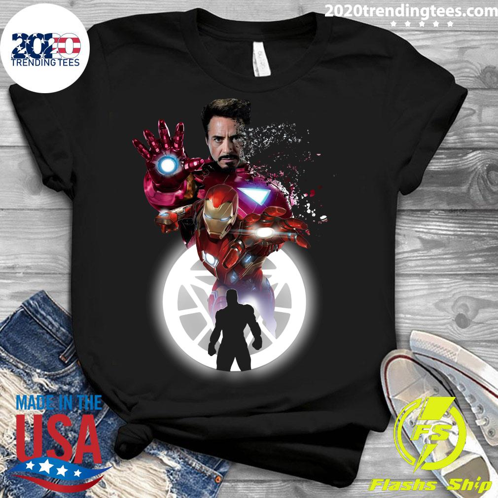Marvel Iron Man Tony Stark Circle Light Shirt Ladies tee