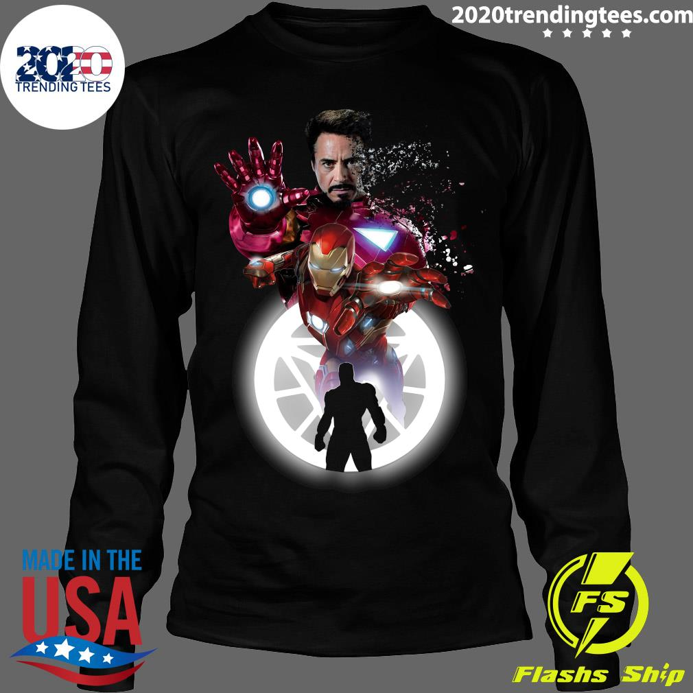 Marvel Iron Man Tony Stark Circle Light Shirt Longsleeve