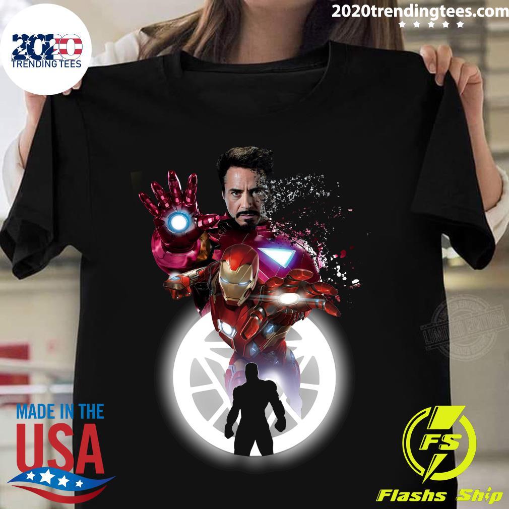 Marvel Iron Man Tony Stark Circle Light Shirt