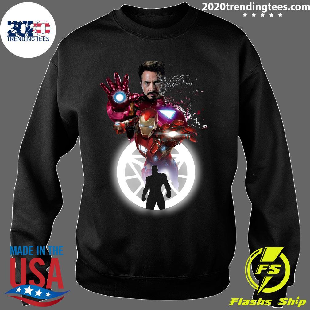 Marvel Iron Man Tony Stark Circle Light Shirt Sweater