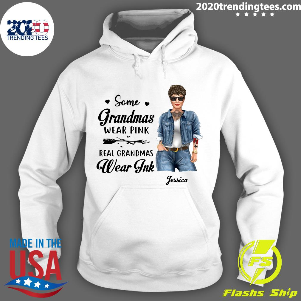 Real Grandmas Wear Ink Personalized Shirt Hoodie
