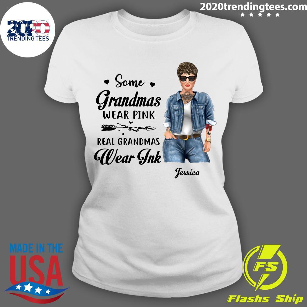 Real Grandmas Wear Ink Personalized Shirt Ladies tee