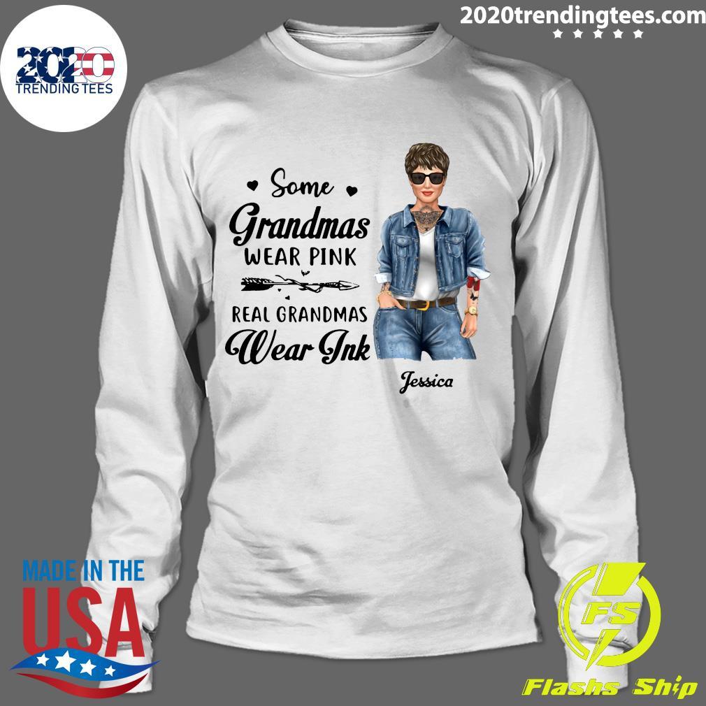 Real Grandmas Wear Ink Personalized Shirt Longsleeve