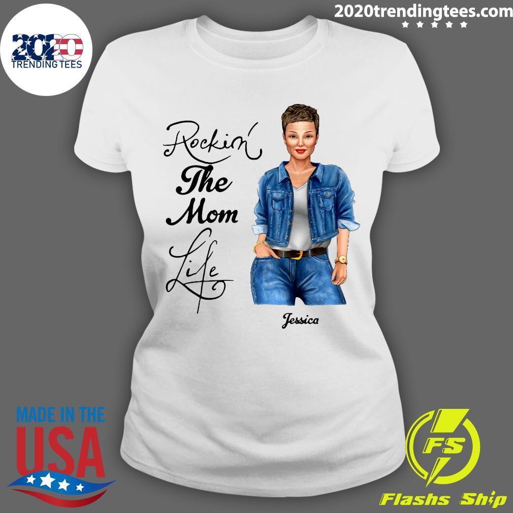 Rocking The Nana Life Pessica Personalized Shirt Ladies tee