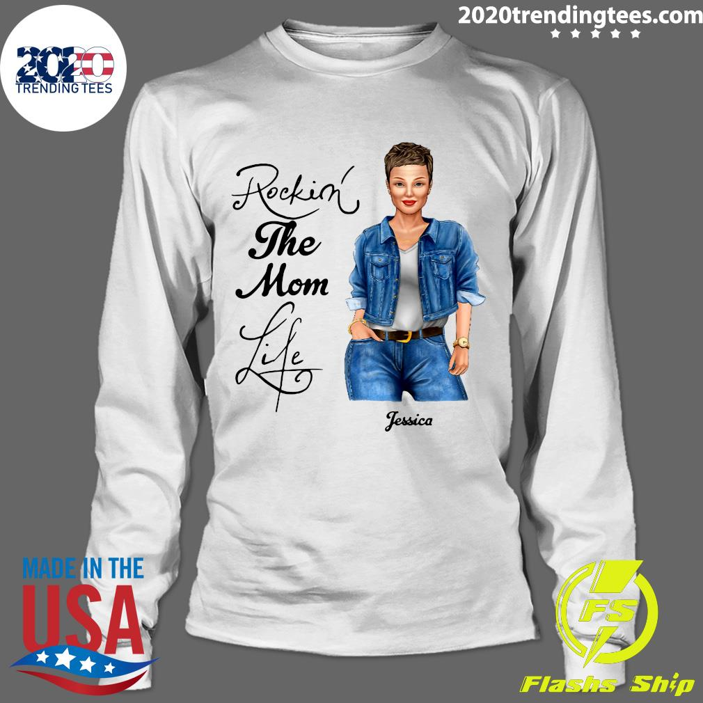 Rocking The Nana Life Pessica Personalized Shirt Longsleeve