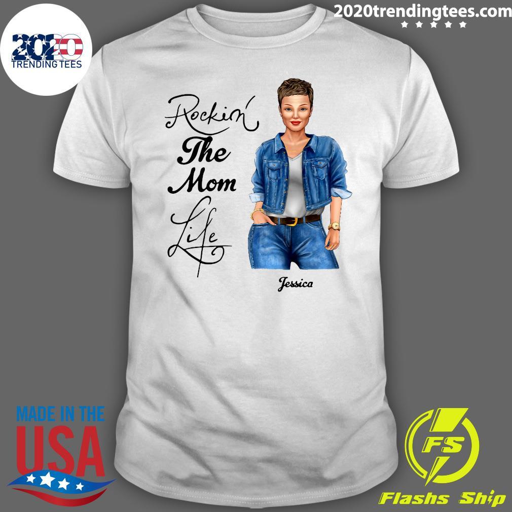 Rocking The Nana Life Pessica Personalized Shirt