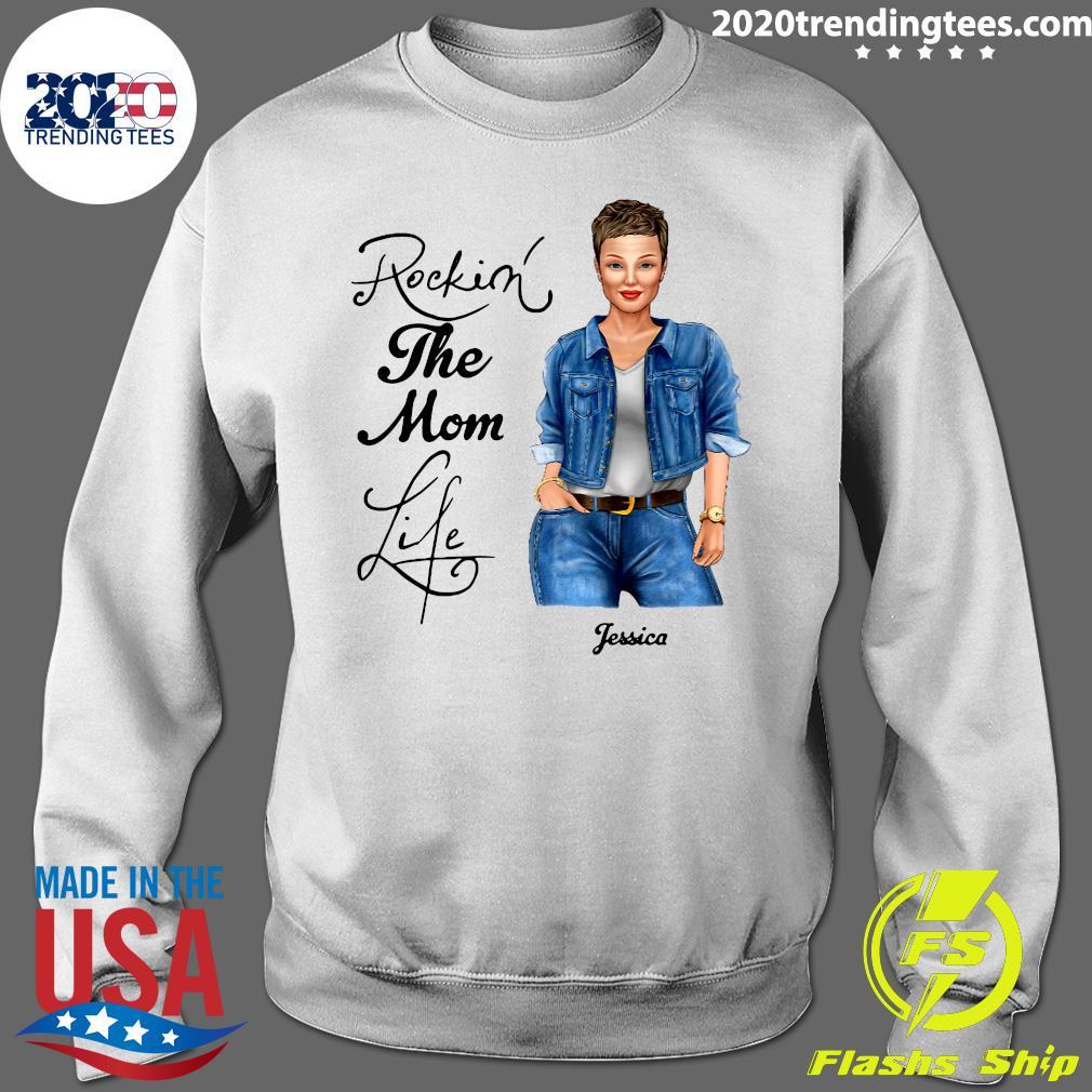 Rocking The Nana Life Pessica Personalized Shirt Sweater