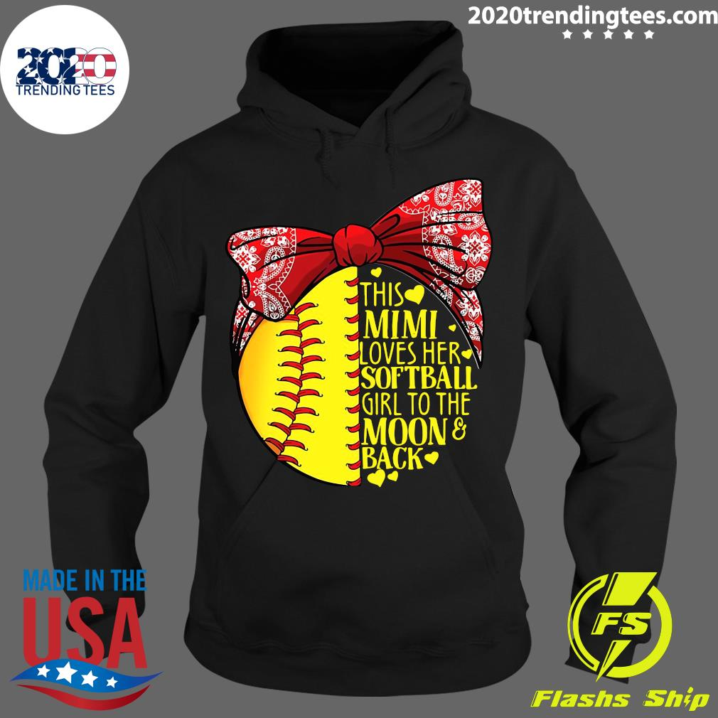 This Mimi Loves Her Softball Girl To The Moon And Back Shirt Hoodie