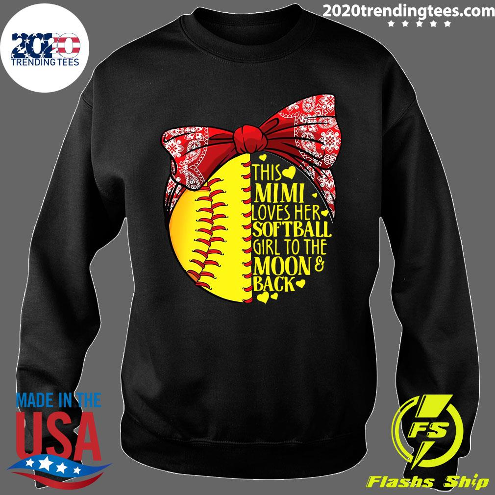 This Mimi Loves Her Softball Girl To The Moon And Back Shirt Sweater