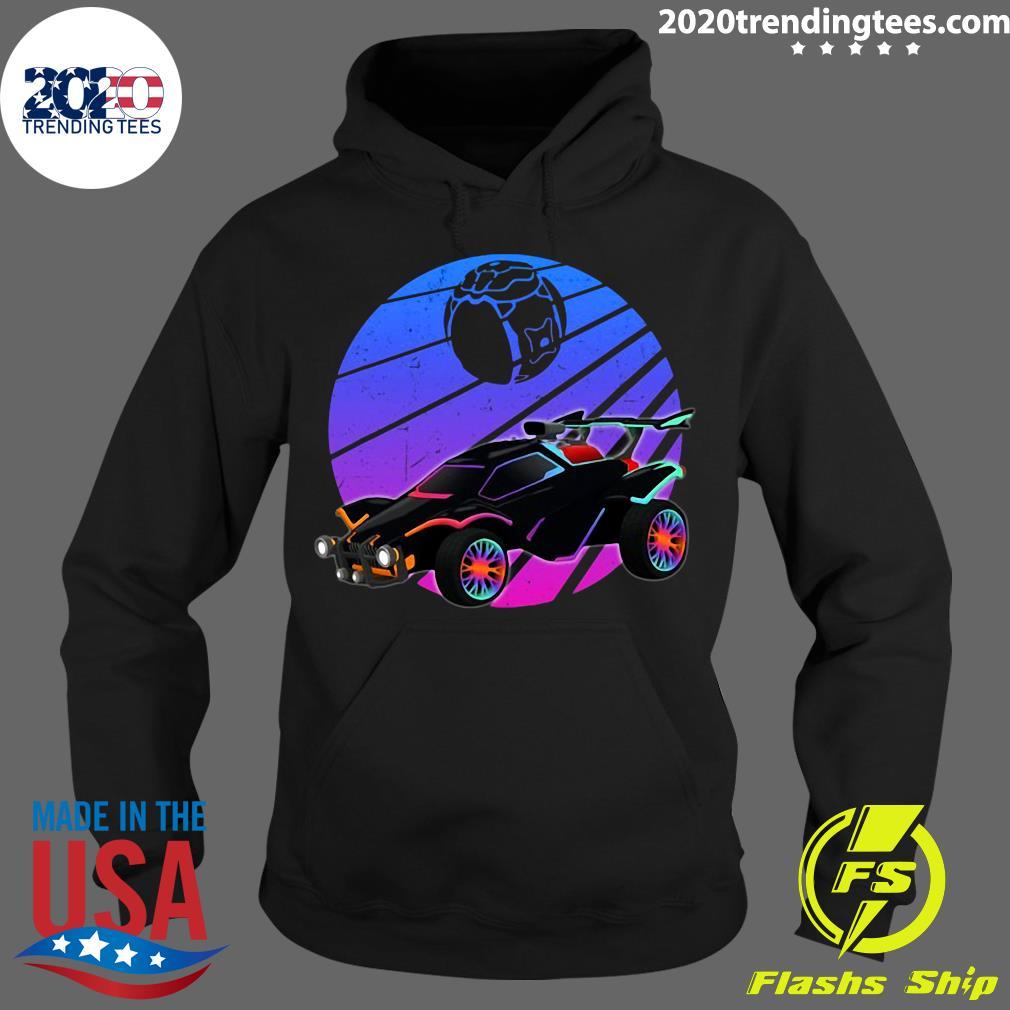 Vintage Rocket Soccer Car League Distressed Gamer Shirt Hoodie