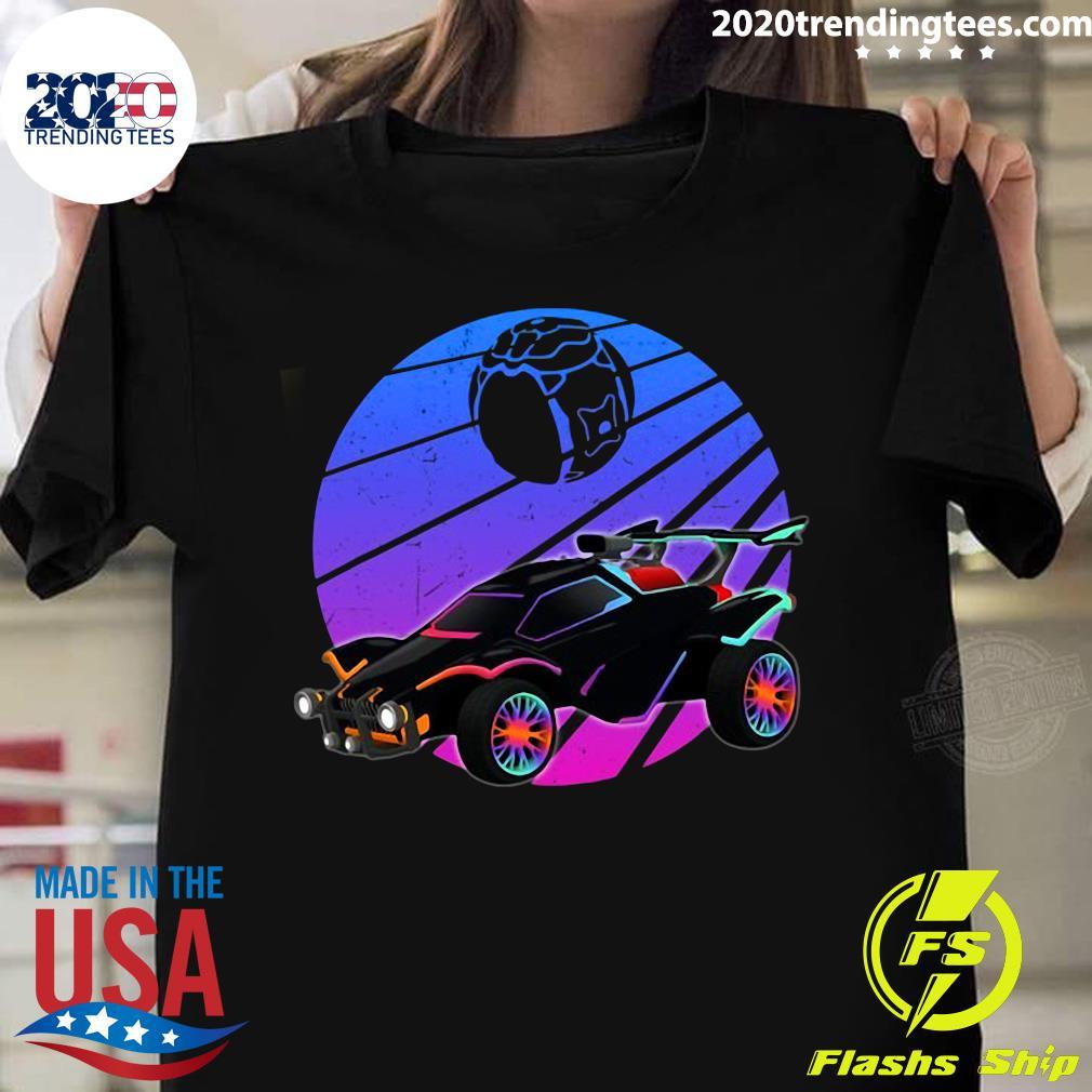 Vintage Rocket Soccer Car League Distressed Gamer Shirt