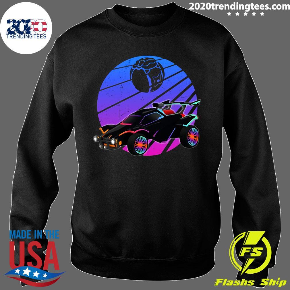Vintage Rocket Soccer Car League Distressed Gamer Shirt Sweater