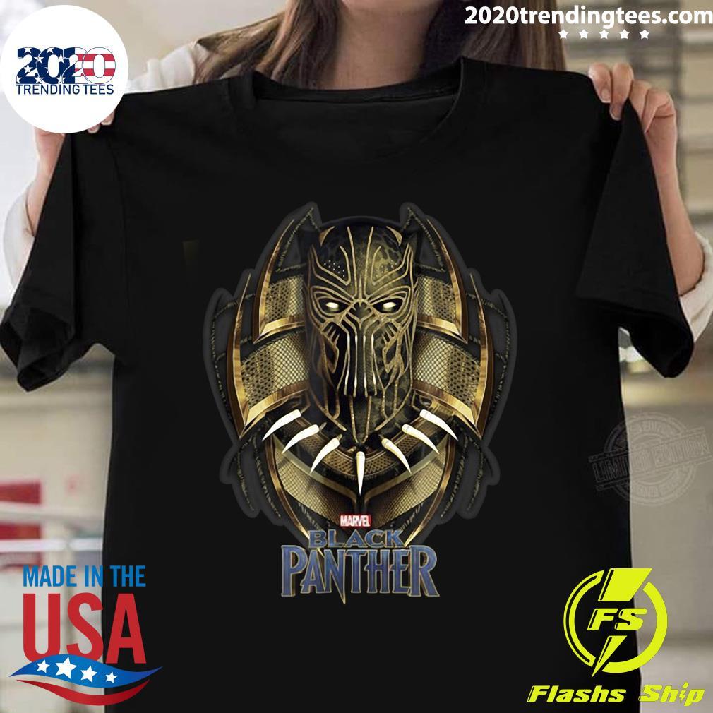 Marvel Black Panther Movie Killmonger Golden Jaguar Shirt