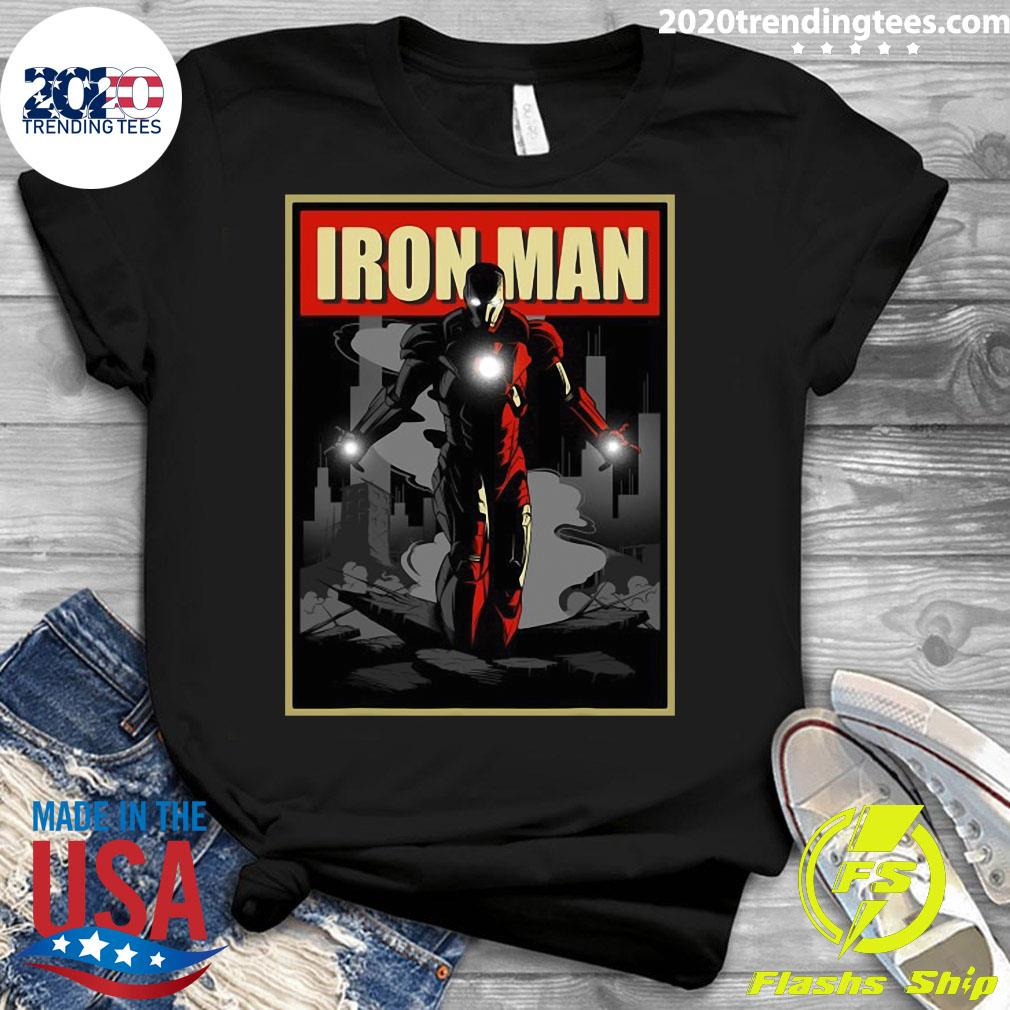 Marvel Iron Man Rise From The Ashes Deco Style Shirt Ladies tee