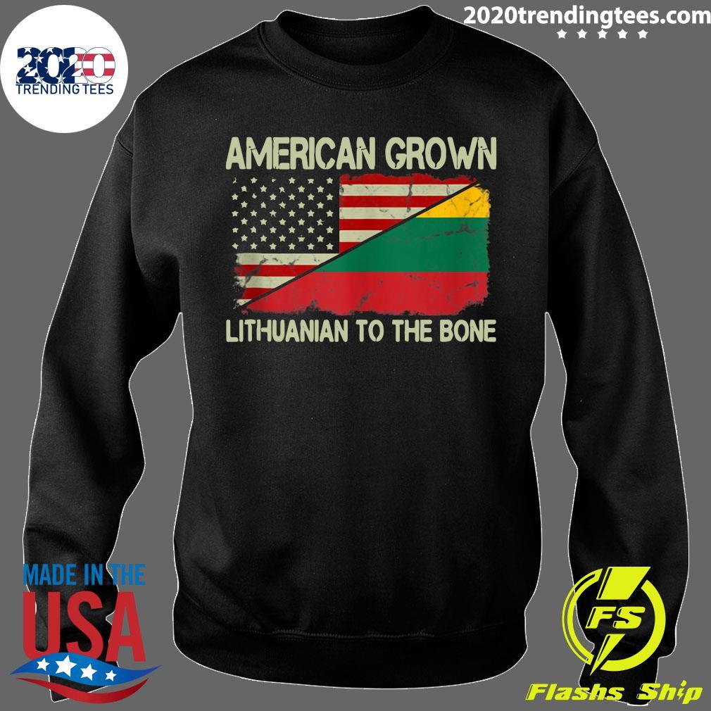American Grown Lithuanian To The Bone US Lithuania Flag Shirt Sweater